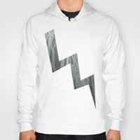 lightning Hoodies featuring Lightning  by Ethna Gillespie