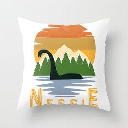 Nessie vintage sunset Throw Pillow