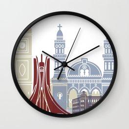 Algiers skyline poster Wall Clock