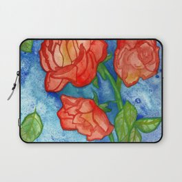 Peachy Colored Roses Laptop Sleeve