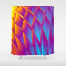 Hot & Cold. Fashion Textures Shower Curtain