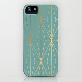 ELEGANT BLUE GOLD PATTERN iPhone Case