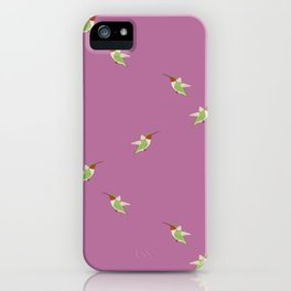 Hummingbird pattern- Purple iPhone Case