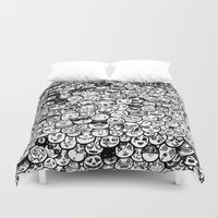 faces Duvet Covers featuring Faces by studiom6
