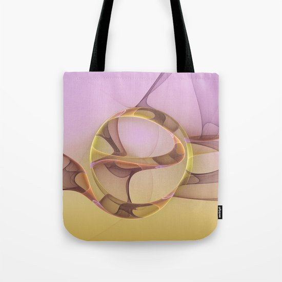 Abstract Motions, Modern Fractal Art Tote Bag
