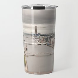 Dublin city center aerial view Travel Mug