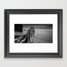 Considering the Waves Framed Art Print