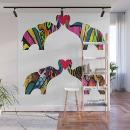 Groovy Elephant Love Wall Mural