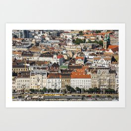 Budapest from Above Art Print