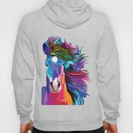pop art horse Hoody