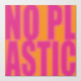 No Plastic # 1 – Please Canvas Print