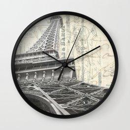 Eiffel Tower Square Wall Clock