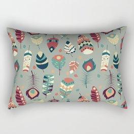 Tribal feather pattern 008 Rectangular Pillow