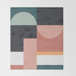 Abstract Geometric 07 Throw Blanket