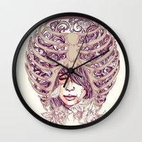 huebucket Wall Clocks featuring Your Bone by Huebucket