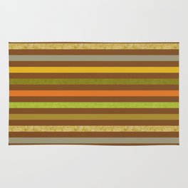 Fall Colors Stripes Craft Paper Texture Rug