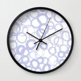 Watercolor Circle Pale Blue Wall Clock