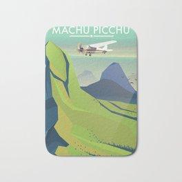 machu picchu travel poster Bath Mat