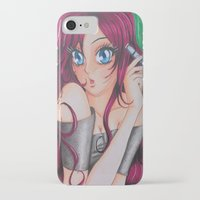 manga iPhone & iPod Cases featuring Manga Portrait by HappyPaper87