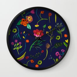 Floral love I pattern Wall Clock