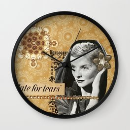 Too Late For Tears Wall Clock