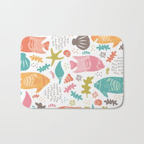 Retro Fish Bath Mat