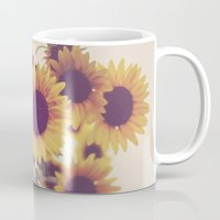 sunflowers Mugs featuring Sunflowers by elle moss