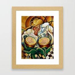 Bongos. Miguez art Framed Art Print