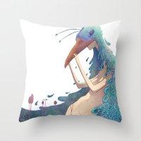 fairy Throw Pillows featuring Fairy by Amandine Riera ( Dïne )