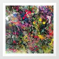 edm Art Prints featuring EDM Explosion by Ensors Art