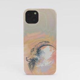 Mountain goat Ram portrait head iPhone Case