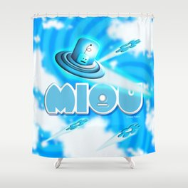 Miou in Blue! Shower Curtain