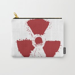 Splatter Radioactive Warning Symbol Carry-All Pouch