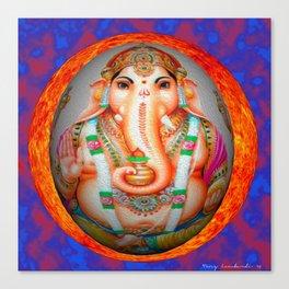 Ganesh sun Canvas Print