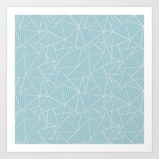Ab Lines Salt Water Art Print