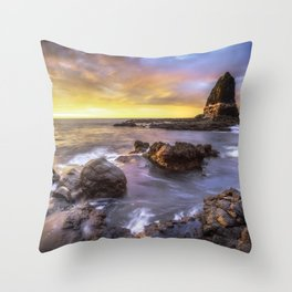 """Skyfire Sermon"" - Sunrise in Mornington Peninsula, Australia Throw Pillow"