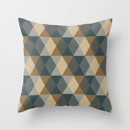Caffeination Geometric Hexagonal Repeat Pattern Throw Pillow