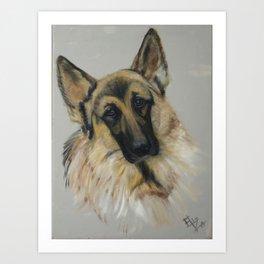German shepard Art Print