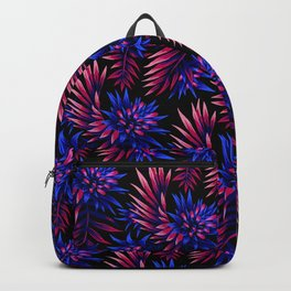 Aechmea Fasciata - Dark Blue / Purple Backpack