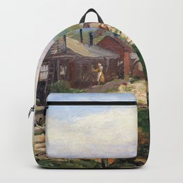 Sir John Lavery - No 3 Gs, Vad Camp, Rouen - Digital Remastered Edition Backpack