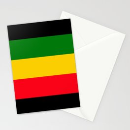 Rastafarian Colors Stationery Cards