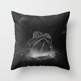 beautifully unfinished b&w. Throw Pillow