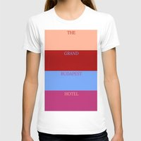the grand budapest hotel T-shirts featuring Grand Budapest minimalist poster by cinemaminimalist