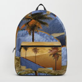 Desert Palm Trees at Dawn Backpack