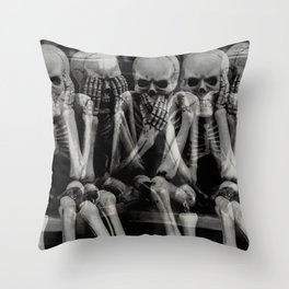 The Bench of Regrets Throw Pillow