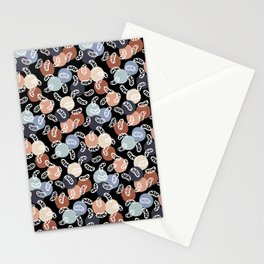 Vintage Mitochondria on Black Stationery Cards