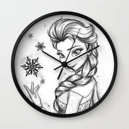 Queen Of Ice And Snow Wall Clock
