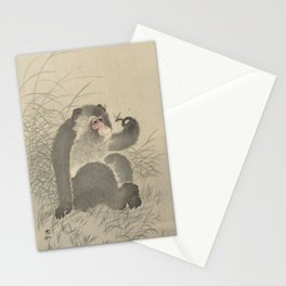 Monkey with insect - Ohara Koson (1900 - 1930) Stationery Cards