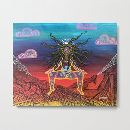 Mountain Goddess Metal Print