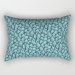 Abstract Leaves of Marine Life Rectangular Pillow